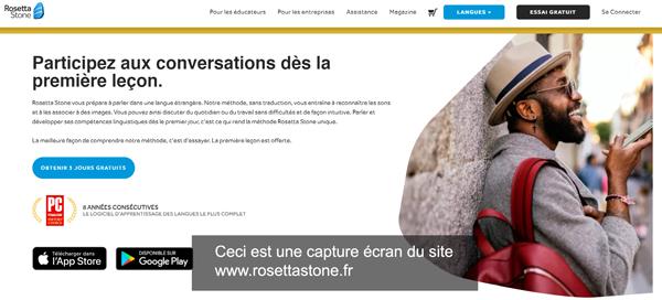connexion sur le site rosettastone.fr