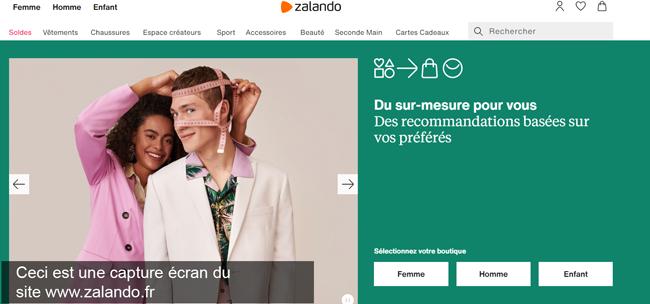 le site de mode www.zalando.fr