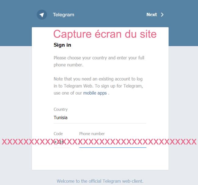 connexion et login telegram web