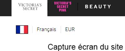 site victoria secret France
