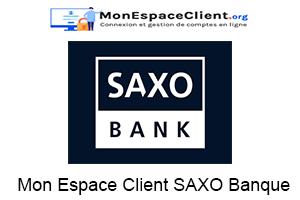 connexion à mon Mon Espace Client SAXO Banque