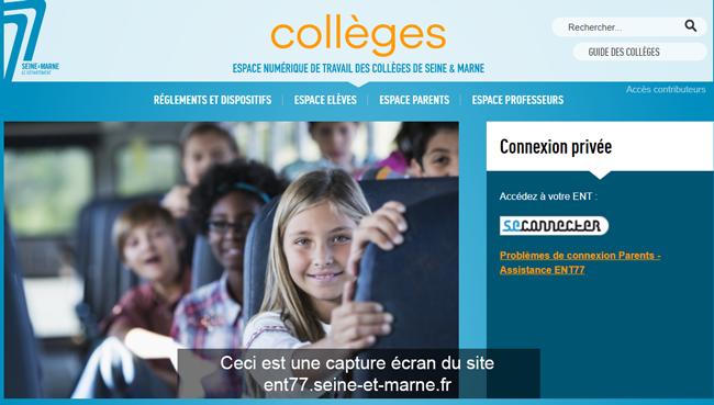 www.ent-prod.seine-et-marne.fr se connecter sur le site