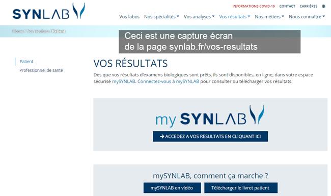 voir ses résultats mysynlab