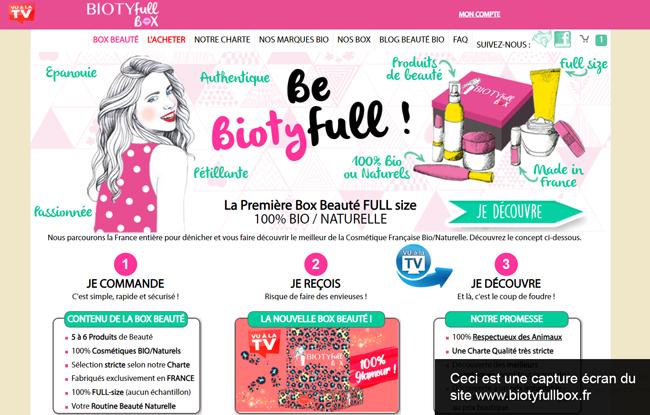 créer un compte sur le site www.biotyfullbox.fr