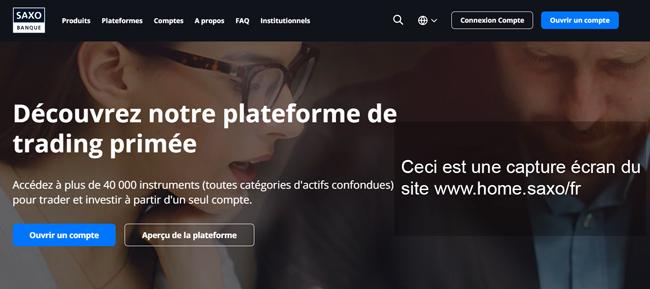 site de la banque saxo banque : www.home.saxo/fr