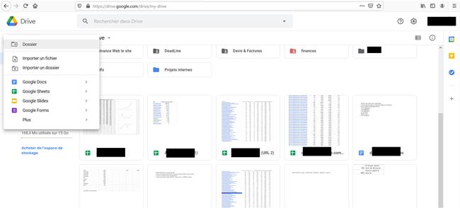 connexion et login sur Drive Google