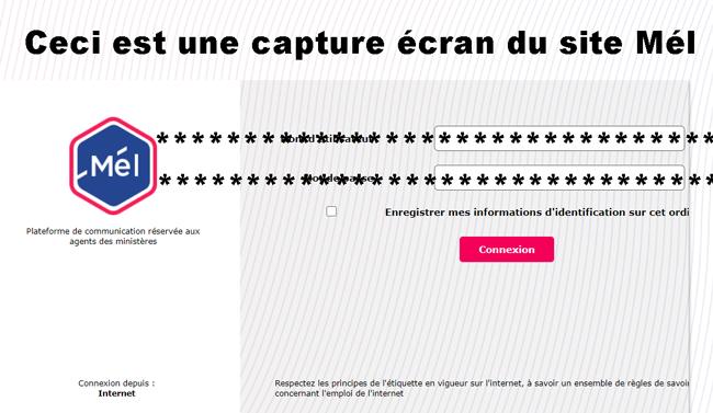 accès Melanie 2 Web sur mel.din.developpement-durable.gouv.fr