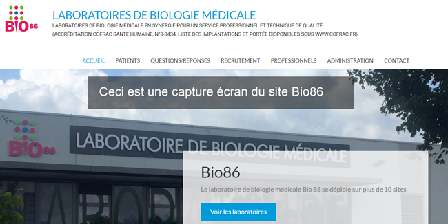 consulter ses analyses sur internet sur le site bio86