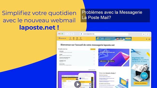 Problèmes avec la Messagerie La Poste Mail