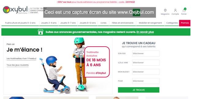 se connecter à mon compte client sur Oxybul.com