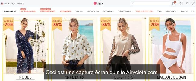 se connecter à mon compte sur le site Airycloth.com