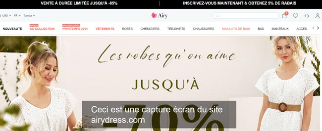 airydress.com : le site de mode féminine pas cher