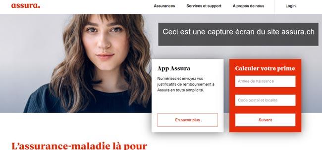 se connecter à mon compte sur le site www.assura.ch