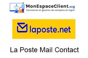 la poste mail contact service client