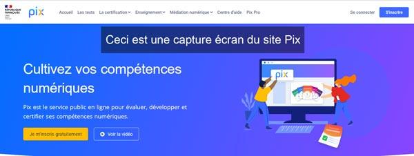 connexion sur pix.fr