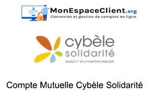 accès à mon Compte Mutuelle Cybèle Solidarité
