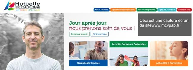www.mcvpap.fr : se connecter à  mon compte mc602