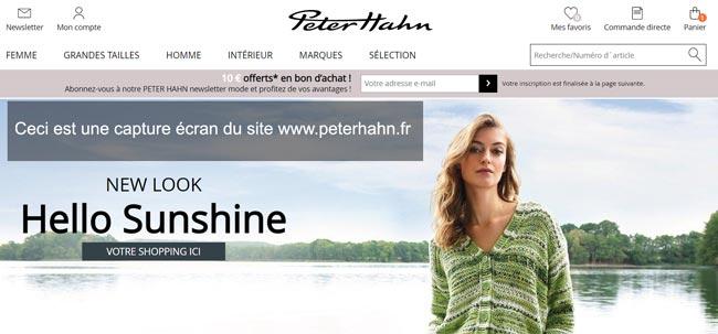 www.peterhahn.fr suivi des commandes en ligne