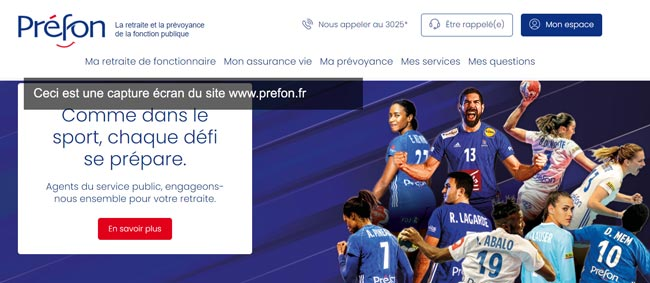 accéder à mon compte préfon retraite sur le site www.prefon.fr