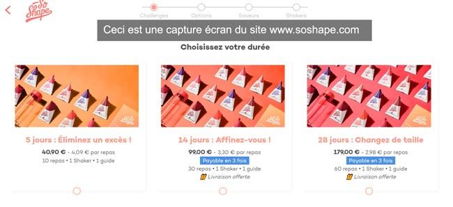accès à mon compte sur le site www.soshape.com