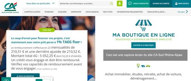 se connecter à mon compte Crédit Agricole Sud Rhône-Alpes