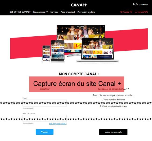 connexion à mon espace abonné Canalplus-caledonie.com
