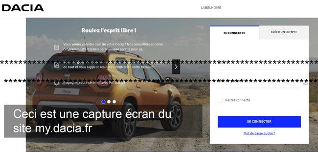 accès à mon espace client sur my.dacia.fr