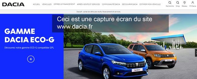 se connecter à mon compte mydacia sur le site www.dacia.fr