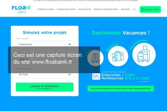 se connecter à mon compte sur le site www.floabank.fr