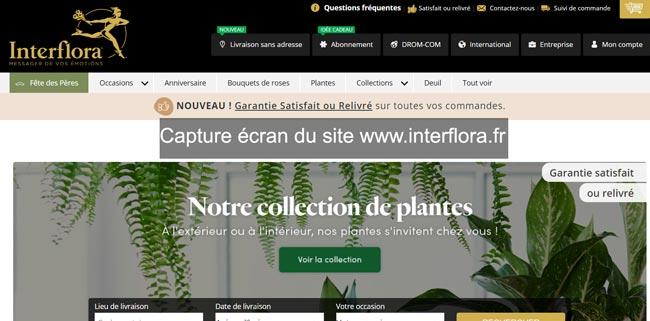 mes commandes sur le site www.interflora.fr