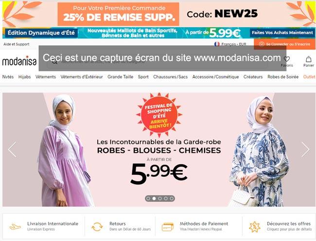 www.modanisa.com : suivi de commande en ligne