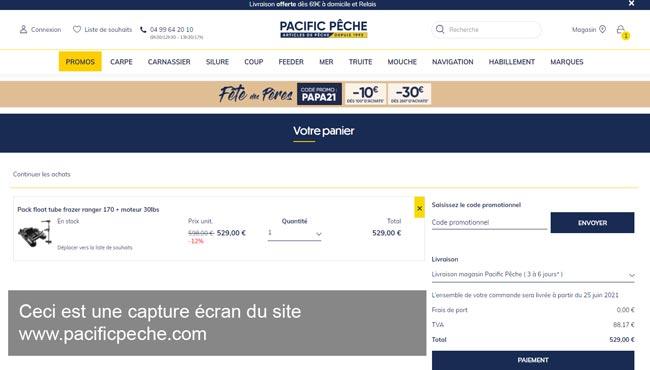 passer et suivre ma commande sur www.pacificpeche.com