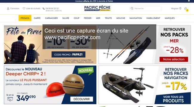 accès à mon compte sur le site www.pacificpeche.com