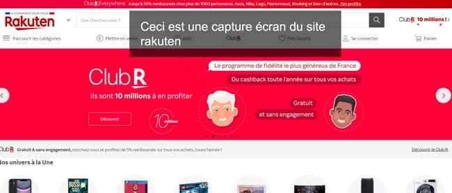 suivi des commandes sur le site fr.shopping.rakuten.com