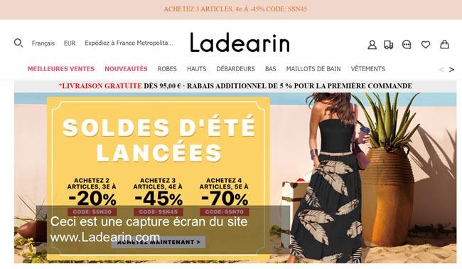connexion à un compte Ladearin.com
