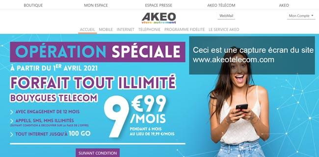 www.akeotelecom.com : portail du webmail