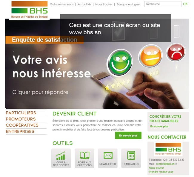 www.bhs.sn banque en ligne