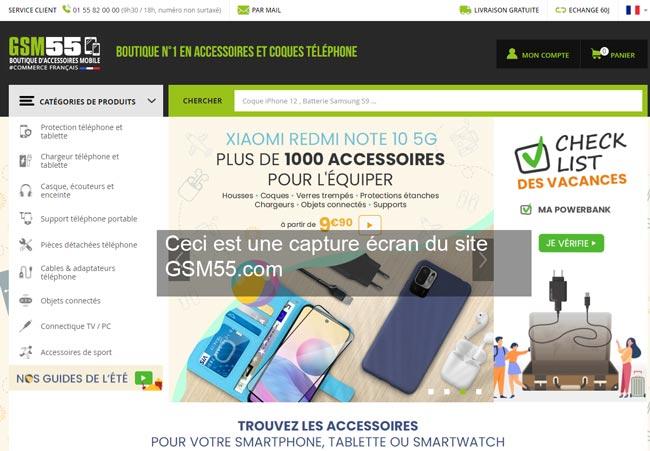 www.gsm55.com : site de la boutique d'accessoire gsm