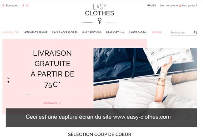 www.easy-clothes.com : boutique de vêtement pas chers en ligne