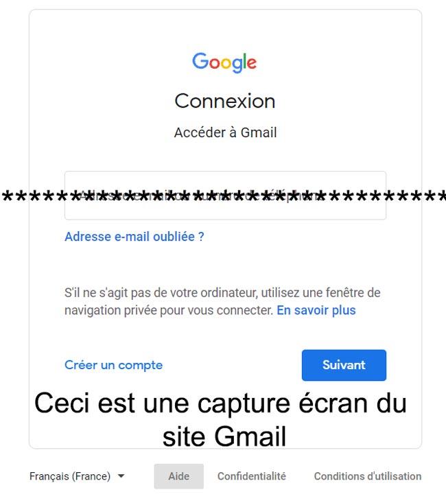 Gmail mot de passe oublié