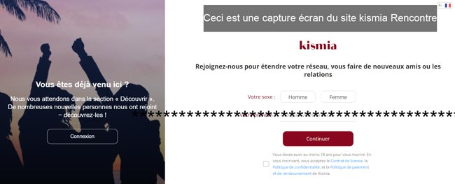 s'inscrire sur le site kismia Rencontre